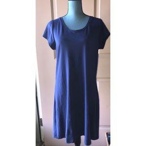 Isaac Mizrahi Navy Cotton Knit Day Dress S #0292